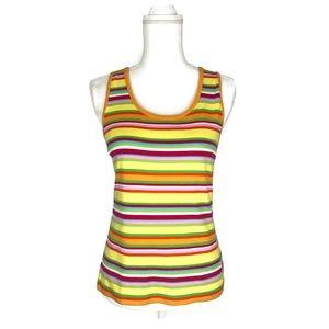 Lauren Ralph Lauren Yellow Retro striped tank top